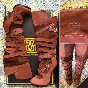 ❗️NEW❗️N.Y.L.A. Webebe Marilyn Tan Knee High Boot